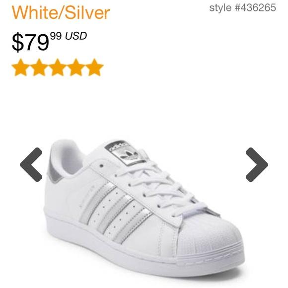 215c361eaa02 adidas Shoes - Women s silver Adidas superstars sz 10 EUC